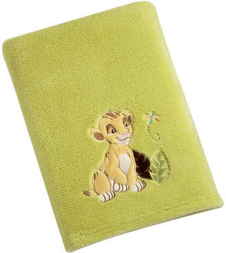 Disney Lion King Solid Coral Fleece Blanket with Applique