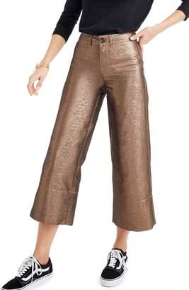 Madewell Langford Metallic Crop Wide Leg Pants