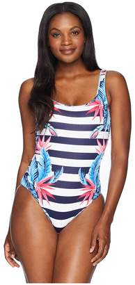 0d94f85dfba64 ... Tommy Bahama Palms Paradise Reversible Lace Back One-Piece Women's  Swimsuits One Piece