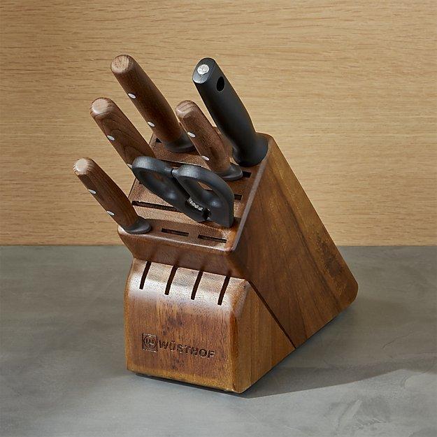Crate & BarrelWüsthof ® Urban Farmer 7-Piece Knife Block Set