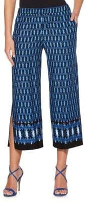 Rafaella Ikat-Print Cropped Beach Pants