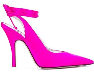 ATTICO tie ankle pointed pumps