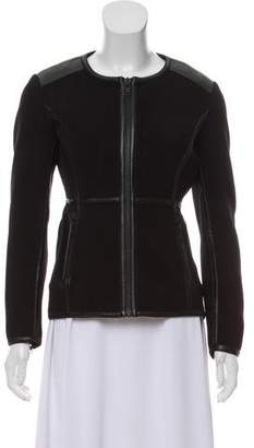 Jonathan Simkhai Leather-Accented Zip-Up Jacket