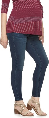 A Glow Maternity a:glow Full Belly Panel Jeggings