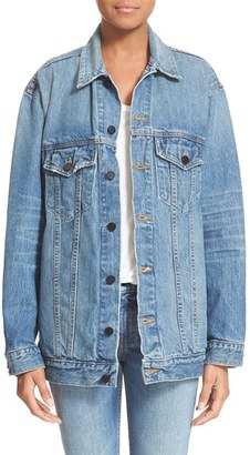 Women's T By Alexander Wang Daze Oversized Denim Jacket $450 thestylecure.com