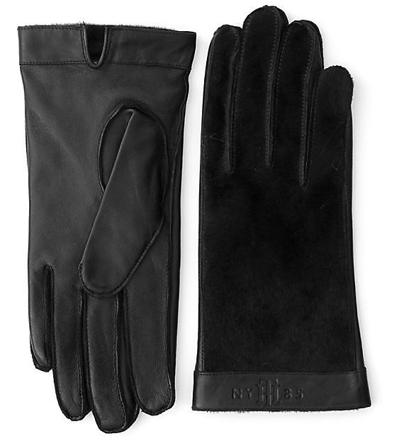Tommy HilfigerPonyskin Mix Leather Gloves
