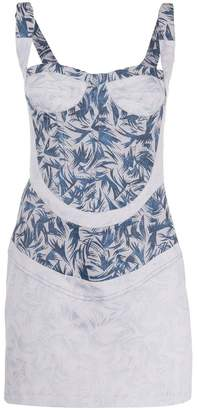 Couture Atu Body printed bustier mini dress