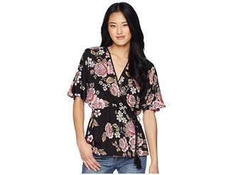 Angie Print Kimono Top Women's Clothing