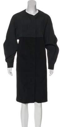 Jeremy Laing Linen-Blend Colorblock Dress