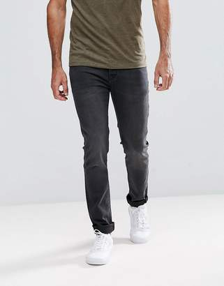 Hoxton Denim Skinny Jeans in Washed Black