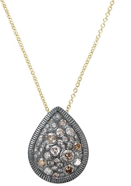 Todd Reed Diamond Teardrop Pendant Necklace