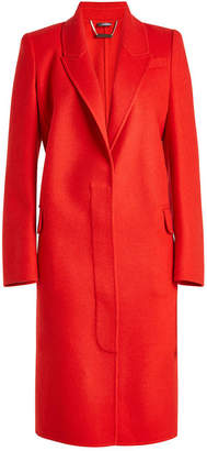 Alexander McQueen Virgin Wool Coat with Cashmere