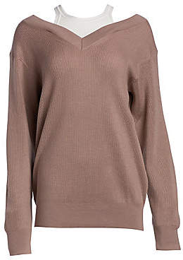 14f9f8a4ede5b Alexander Wang Women s Double Layer Ribbed Sweater
