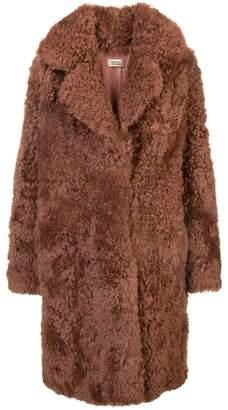 Yves Salomon shearling single breasted coat