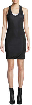 Alexander Wang Scoop-Neck Viscose Short Tee Dress