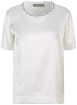 D-Exterior D.exterior Textured Trim Satin T-Shirt
