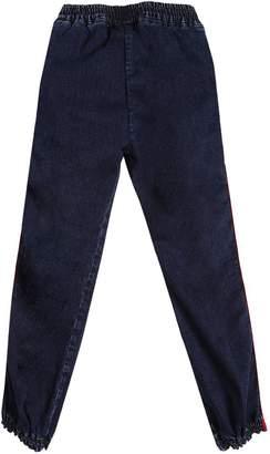 MSGM Logo Side Bands Stretch Denim Jeans