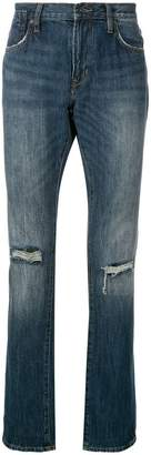 John Varvatos distressed detail jeans