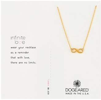 """Dogeared Infinite Love"""" Dipped Sterling Silver Infinity Charm Necklace"""