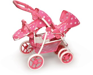 Badger Basket Convertible Double Doll Stroller