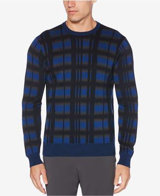 Perry Ellis Men Plaid Crewneck Sweater