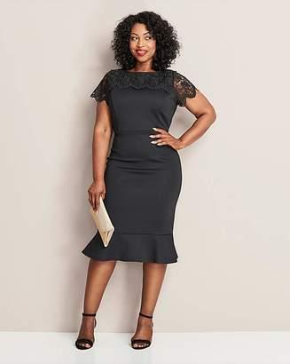 Black Peplum Dress Shopstyle Uk