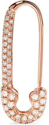 Anita Ko Safety Pin 18-karat Rose Gold Diamond Earring