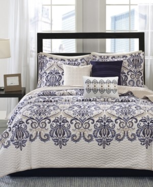 Madison Home USA Cali 6-Pc. Quilted Full/Queen Coverlet Set Bedding