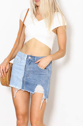Debut Wrap Crop Top