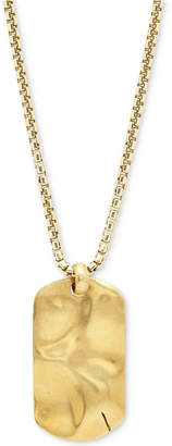 Degs & Sal Men's Dog Tag Pendant Necklace in 14k Gold-Plated Sterling Silver