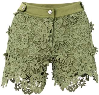 Just Cavalli lace fitted shorts