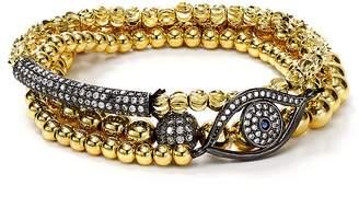 Aqua Beaded Eye Bracelets, Set of 3 - 100% Exclusive
