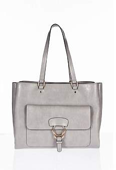 Tony Bianco Zealot Tote Front Flap With Ring Hardware