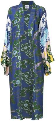 Michel Klein floral print oversized kimono coat