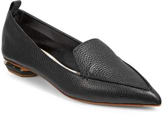 Nicholas Kirkwood Beya Point Toe Leather Flats