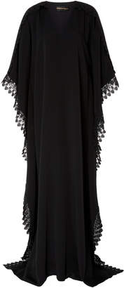 Christian Siriano M'O Exclusive V Neck Caftan with Lace Detail