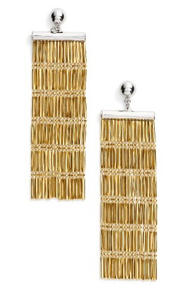 Women's Argento Vivo Two-Tone Linear Fringe Earrings $65 thestylecure.com
