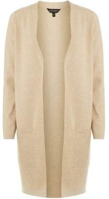 Dorothy Perkins Womens Camel Knitted Long Coatigan