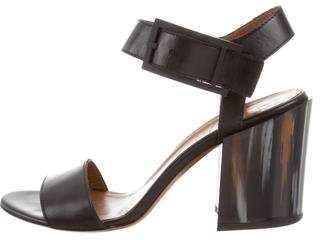 Aquatalia Leather Platform Sandals