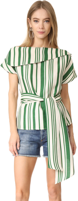J.O.A. Off Shoulder Stripe Tunic $73 thestylecure.com