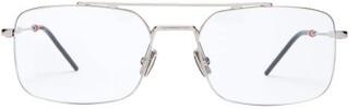 Christian Dior Sunglasses - Dior0230 Square Metal Glasses - Mens - Silver