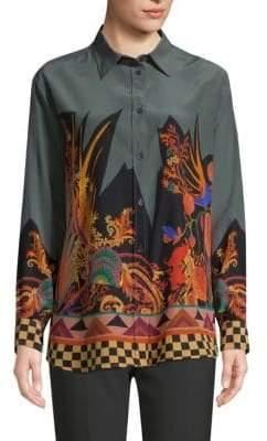 Etro Forest Paisley Silk Shirt