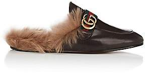 Gucci Men's New Princetown Leather Slippers - Brown