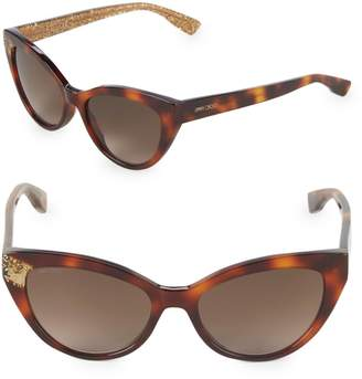 Jimmy Choo Costy/S 54MM Cat-Eye Glitter Sunglasses