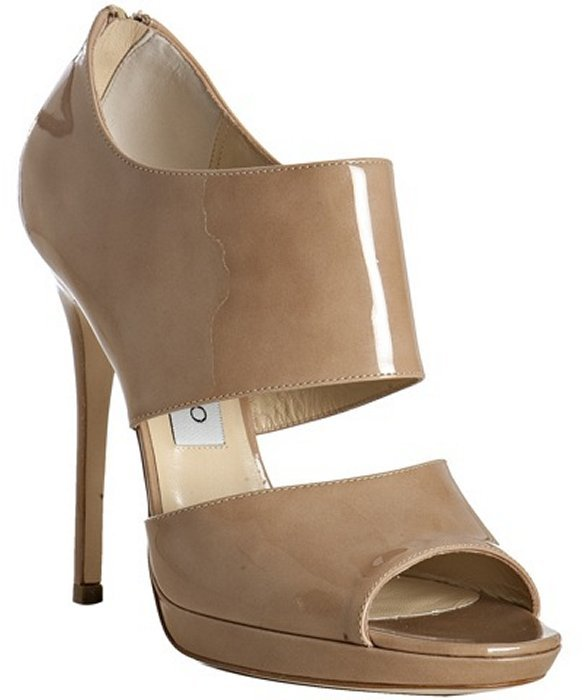 Jimmy Choo nude patent leather 'Private' sandals