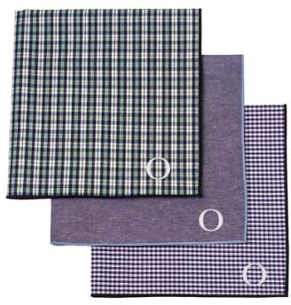 Cathy's Concepts Set of 3 Monogram Pocket Squares
