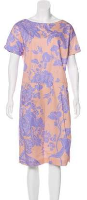 Dries Van Noten Floral Print Midi Dress