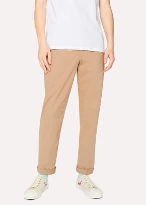 Paul Smith Men's Mid-Fit Sand Stretch-Cotton Chinos