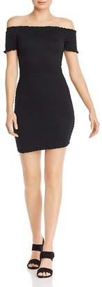 b441edff5b5 Aqua Smocked Off-the-Shoulder Mini Dress - 100% Exclusive