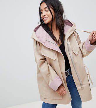 Asos Waterfall Parka with Contrast Liner